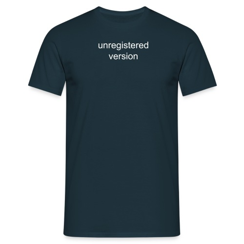 unregistered version - Camiseta hombre