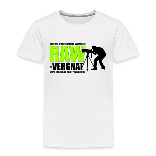 Tee Shirt Blanc Enfant RAWvergnat - T-shirt Premium Enfant