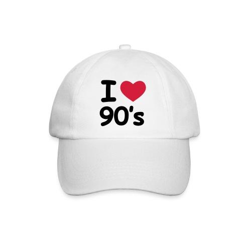 I love 90s Cap weiß - Baseballkappe