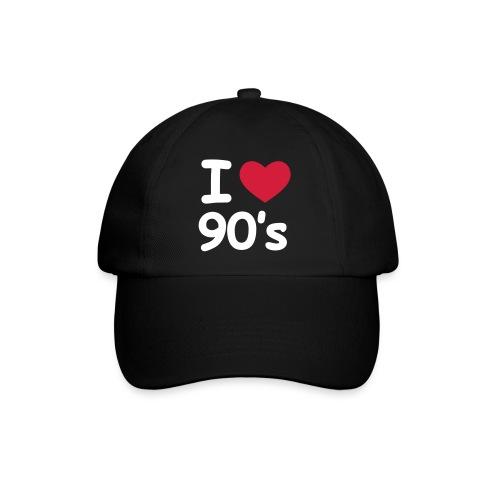 I love 90s Cap schwarz - Baseballkappe