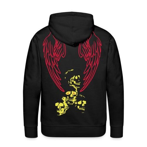 Death wings - Sweat-shirt à capuche Premium pour hommes