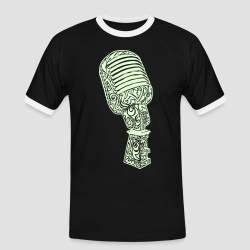 Tribal Old school Microphone - Männer Kontrast-T-Shirt