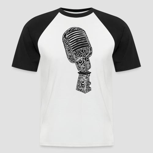 Tribal Old school Microphone - Männer Baseball-T-Shirt
