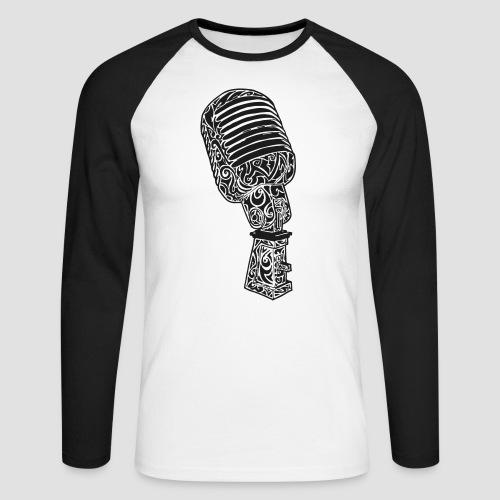 Tribal Old school Microphone - Männer Baseballshirt langarm