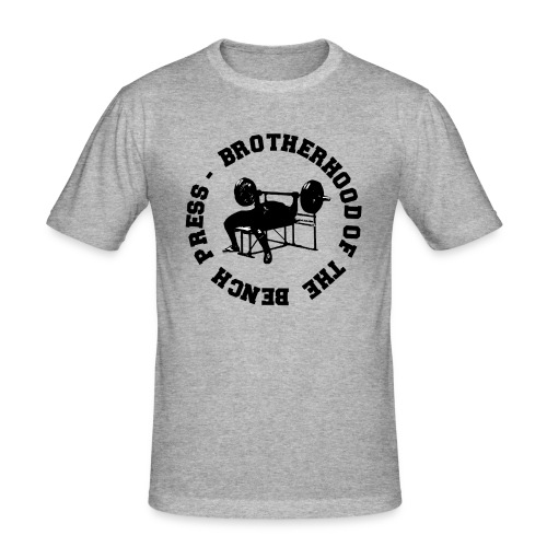 T-shirt UOMO Brotherhood of the bench press - Maglietta aderente da uomo