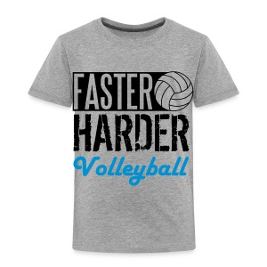 Faster, harder, Volleyball Shirts - Kids' Premium T-Shirt