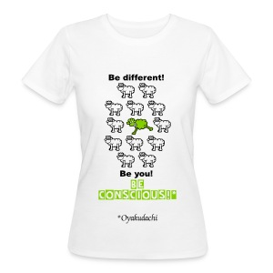 GreenSheep BeConscious AppleGreenBlack W - Women's Organic T-shirt