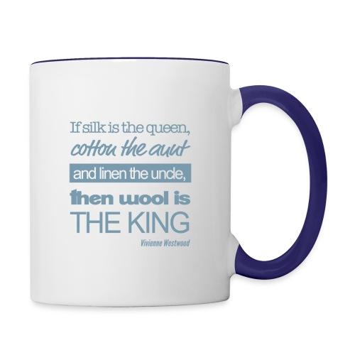 Wolle ist König! - Tasse zweifarbig