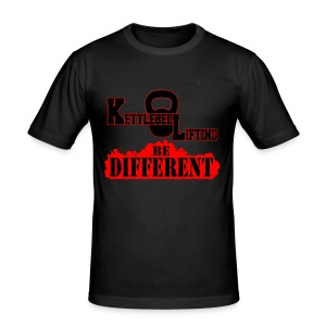 T-shirt aderente UOMO Kettlebell lifting be different - Maglietta aderente da uomo