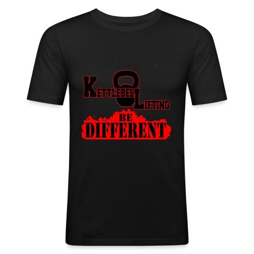 T-shirt aderente UOMO Kettlebell lifting be different - Maglietta aderente da uomo