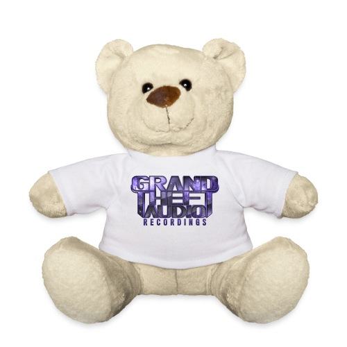 Grand Theft Audio Logo Teddy Bear White/ Purple - Teddy Bear