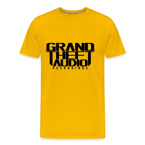 Mens Grand Theft Audio Black Logo T-shirt - Men's Premium T-Shirt