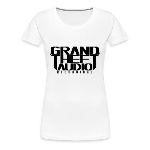 Ladies Grand Theft Audio Black Logo T-shirt - Women's Premium T-Shirt