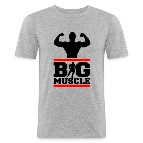 T-shirt UOMO ADERENTE Bodybuilding BIG MUSCLE serie red line - Maglietta aderente da uomo