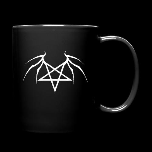Tasse mit weißen Flügelpentagram - Tasse einfarbig