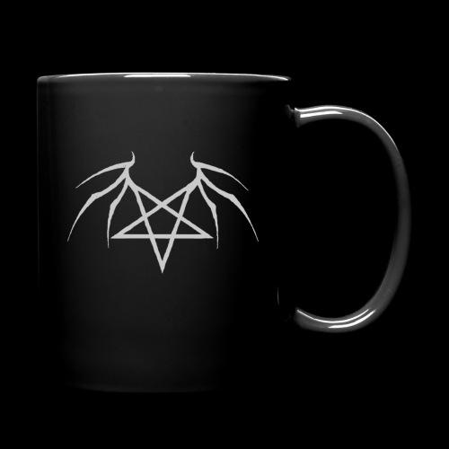 Tasse mit grauen Flügelpentagram - Tasse einfarbig