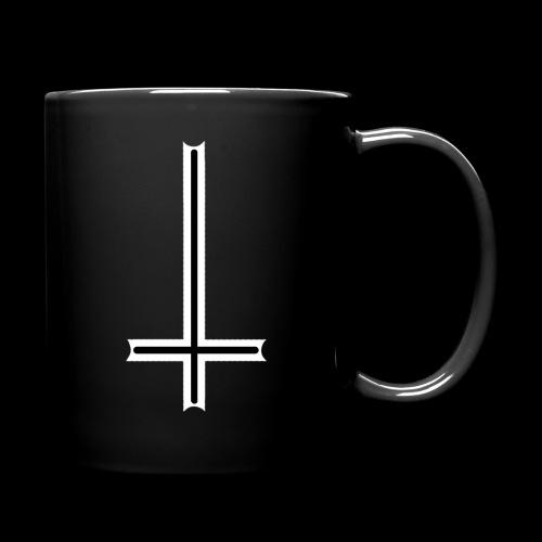 Tasse mit umgedrehten Kreuz - Tasse einfarbig