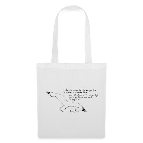Seagulls - text - bag - grey - Stoffbeutel