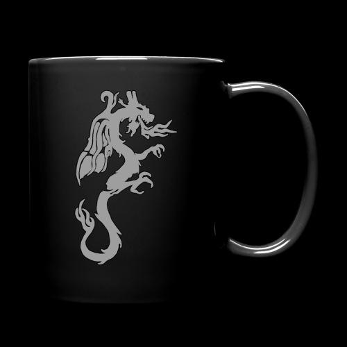 Tasse mit grauem Drachen - Tasse einfarbig