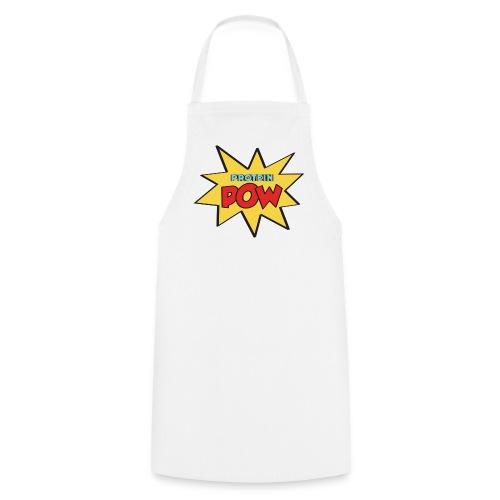 Protein Pow Apron (White) - Cooking Apron