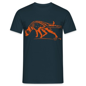 Grafikshirt orange - Männer T-Shirt