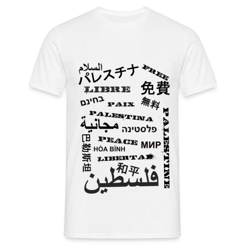 Mannen T-Shirt - Libre Palestina - Mannen T-shirt