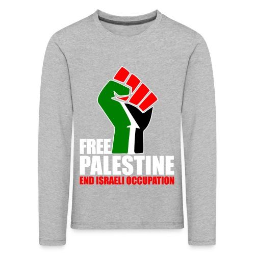Kindershirt - Free Palestine - Kinderen Premium shirt met lange mouwen