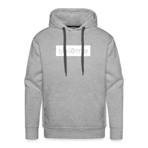 SIXIEME TYPOGRAPH PRO WHITE/GREY HOODIE - Sweat-shirt à capuche Premium pour hommes