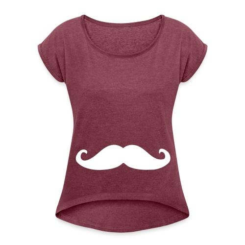 T-Shirt A Moustache - HydraDesign / Femme - T-shirt à manches retroussées Femme