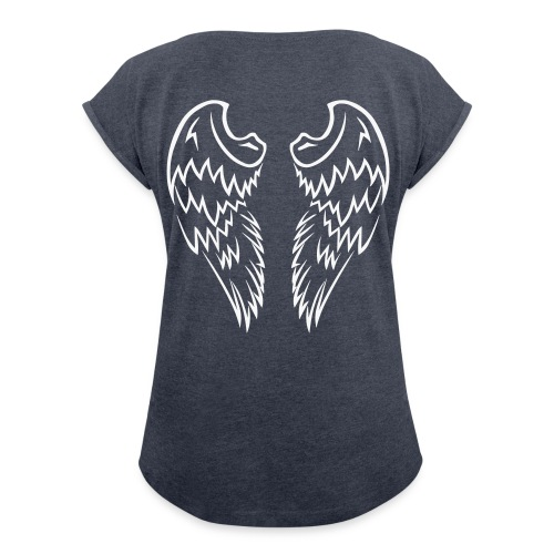 T-Shirt Ailé - HydraDesign / Femme - T-shirt à manches retroussées Femme