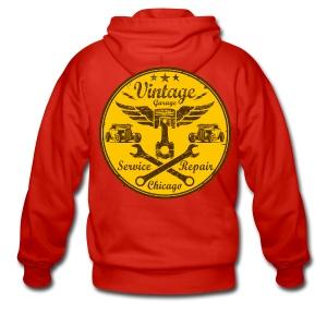 vintage repair service 03 - Men's Premium Hooded Jacket