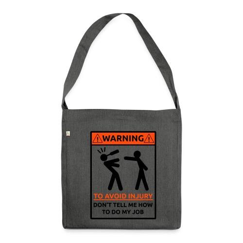 To avoid Injury - Tasche - Schultertasche aus Recycling-Material