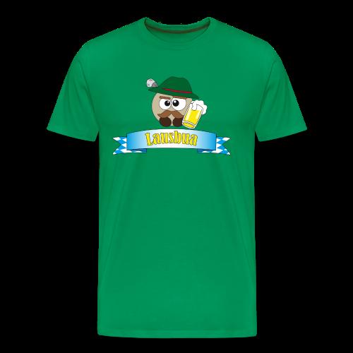 Herrenshirt Lausbua Pushy - Männer Premium T-Shirt