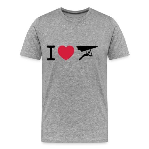 I love hanggliding T-shirt - Mannen Premium T-shirt