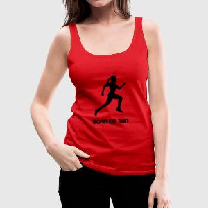 run, woman running - Women's Premium Tank Top