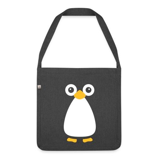 Cute Vector Penguin Shoulder Bag - Shoulder Bag made from recycled material