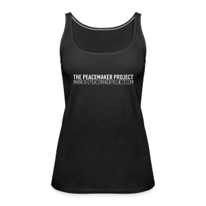 TPMP Logo Nr. 1 Shirt (Navy heather with white print Woman) - Frauen Premium Tank Top