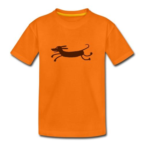 Dackel (mit Pupille)  - Teenager Premium T-Shirt