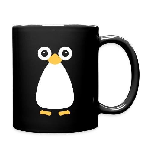 Cute Vector Penguin Black Mug - Full Colour Mug