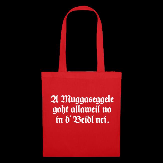 9d9291a8c0497 Schwäbische Tragetasche für Schwaben (Rot Weiß)