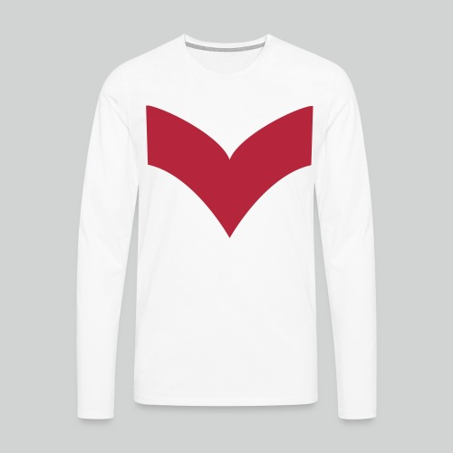 Retrolaser White - T-shirt manches longues Premium Homme