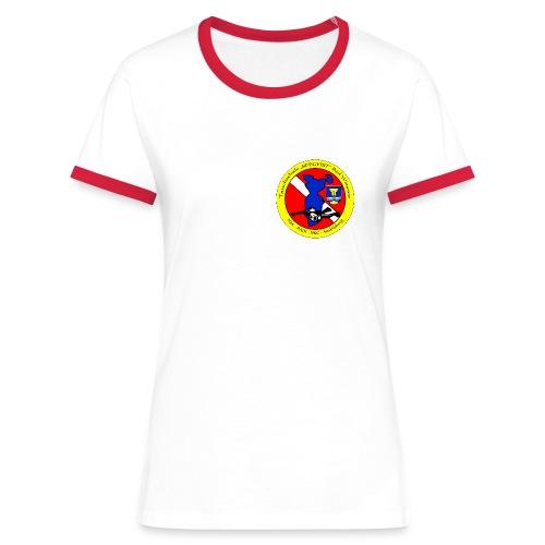 Damen Shirt - Frauen Kontrast-T-Shirt