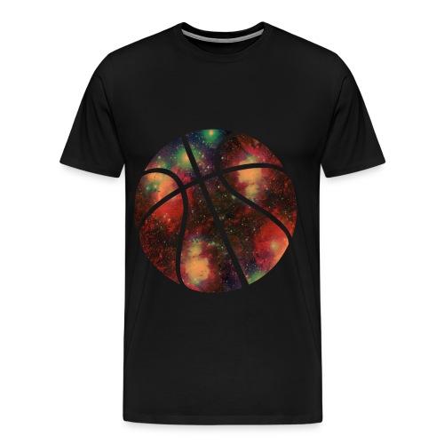 Tee shirt Balle de Basketball GALAXY - T-shirt Premium Homme