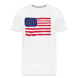 American flag painted - Men's Premium T-Shirt