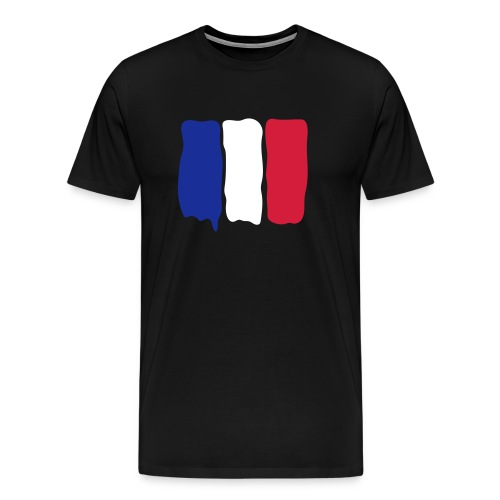 French flag runny paint - Men's Premium T-Shirt