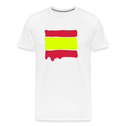 Spanish flag runny paint - Men's Premium T-Shirt