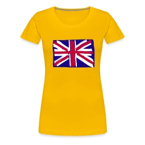 GB flag naive - Women's Premium T-Shirt