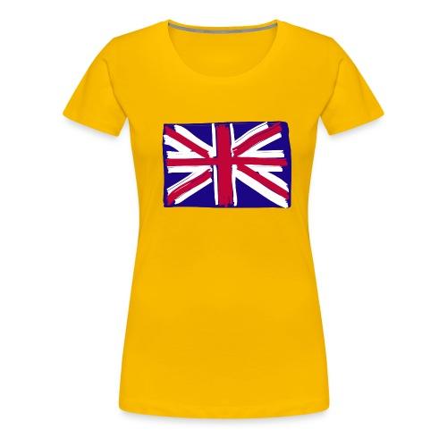 GB flag naive - Women's Premium T-Shirt