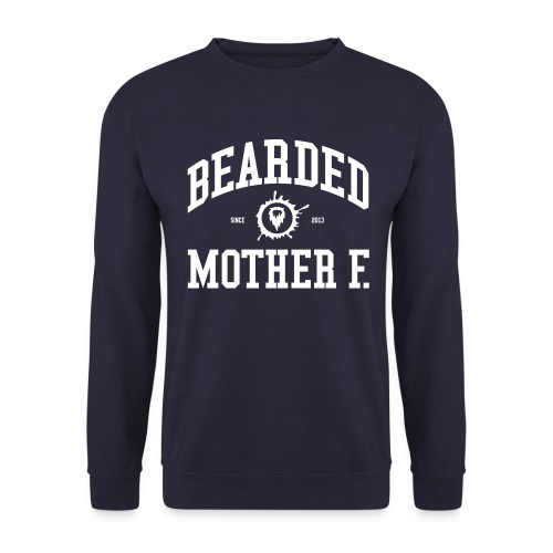 Bearded Mother F. - Men's Crewneck (White print) - Mannen sweater
