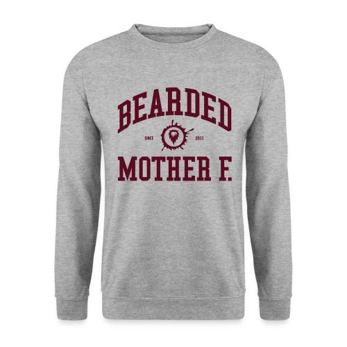 Bearded Mother F. - Men's Crewneck (Oxblood print) - Mannen sweater